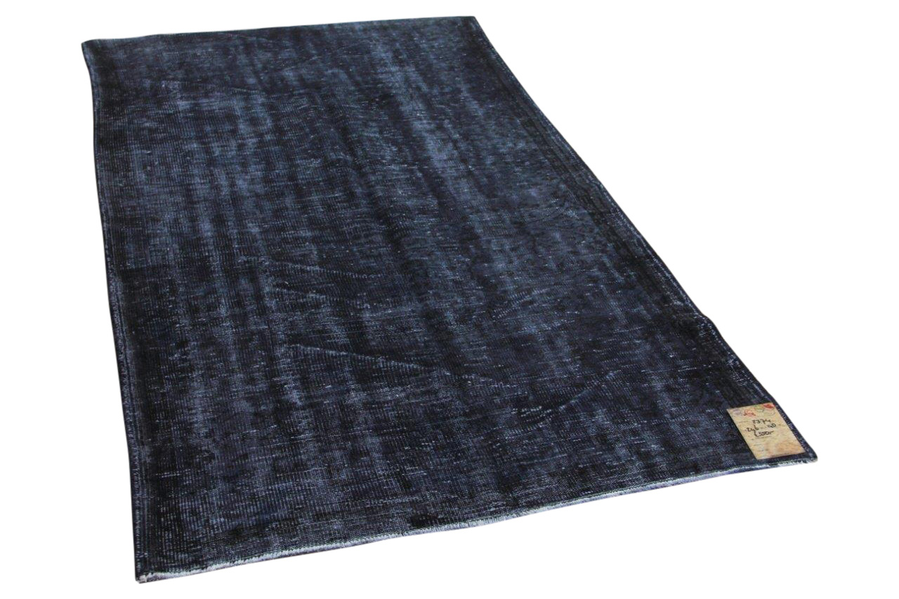 vintage vloerkleed zwart 246cm x 140cm