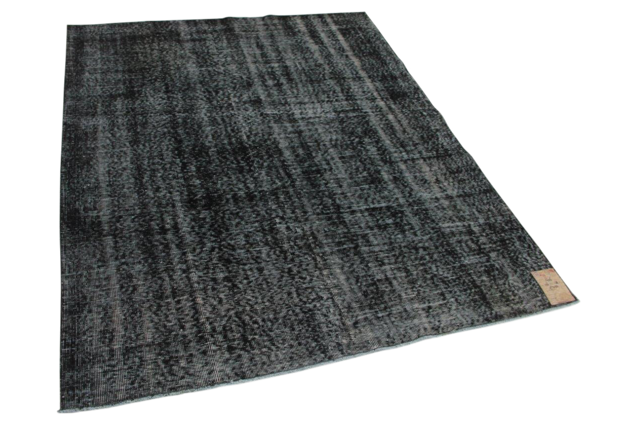Zwart vintage vloerkleed