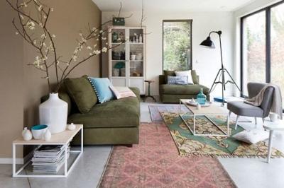 Layering rugs: Het combineren van meerdere vloerkleden