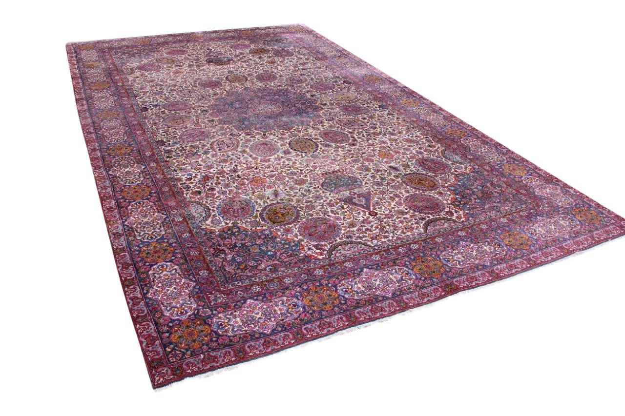 Afbeelding van Antiek Kirman tapijt, 550cm x 320cm 90 jaar oud (in perfecte staat!!!)