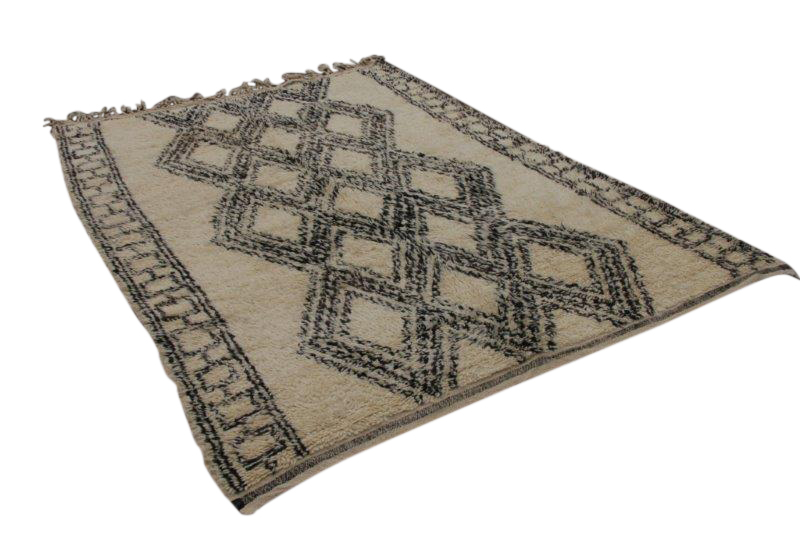 Afbeelding van Beni ouarain vloerkleed, 269cm x 196cm 40-50 jaar oud