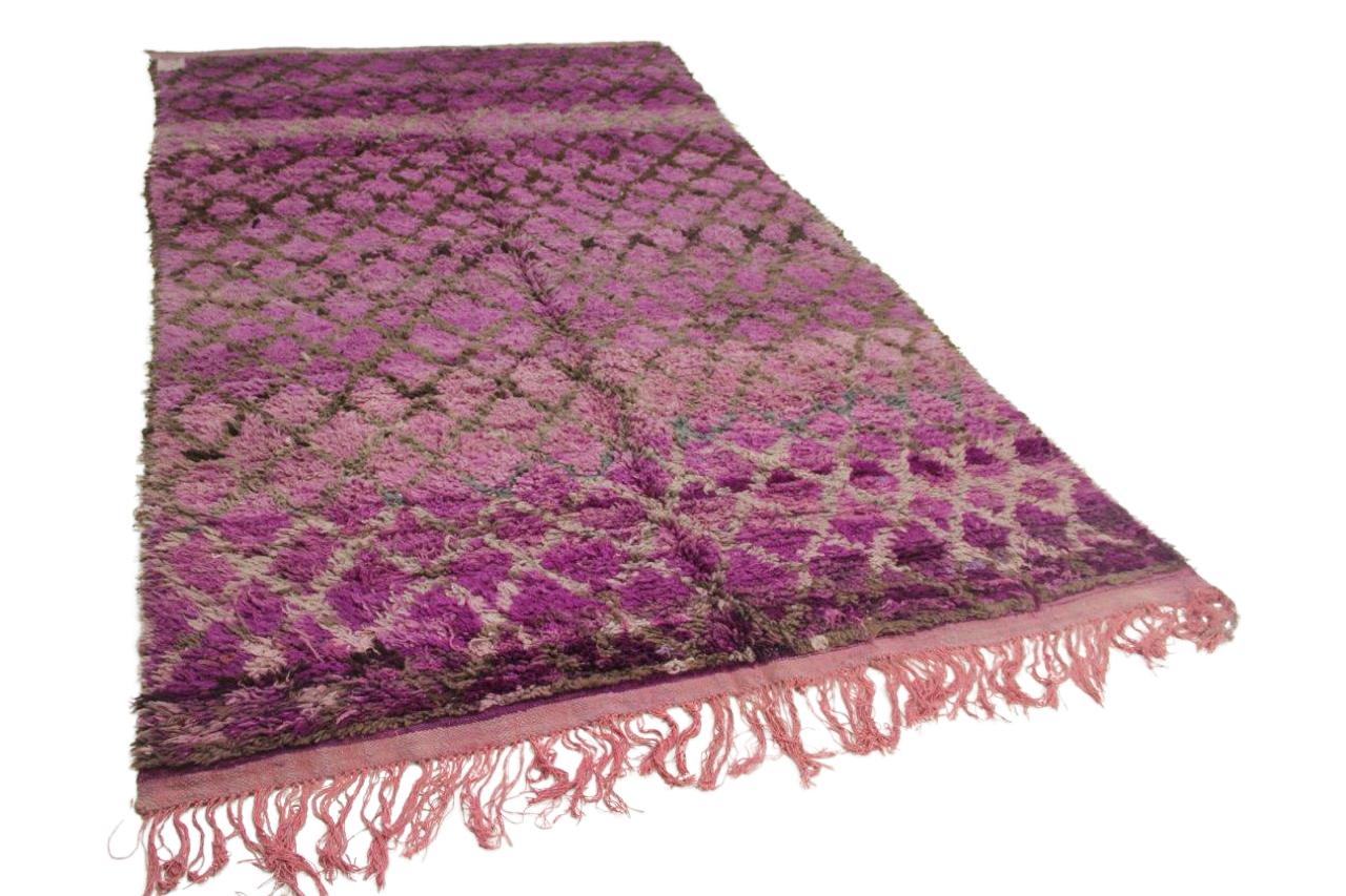 Afbeelding van Beni Mguild paars 300cm x 200cm hoogpolig vloerkleed