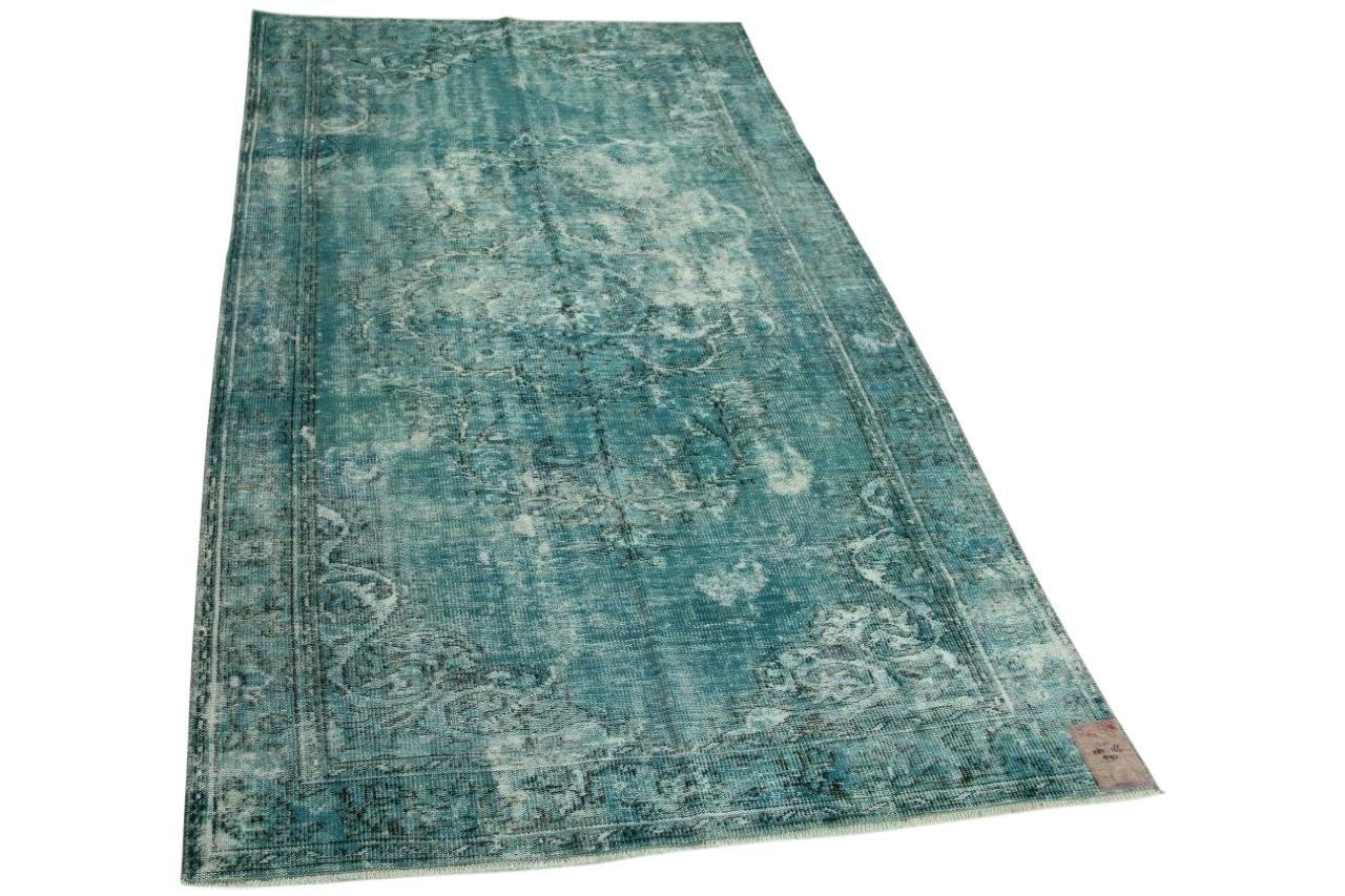 blauw vloerkleed 282cm x 166cm