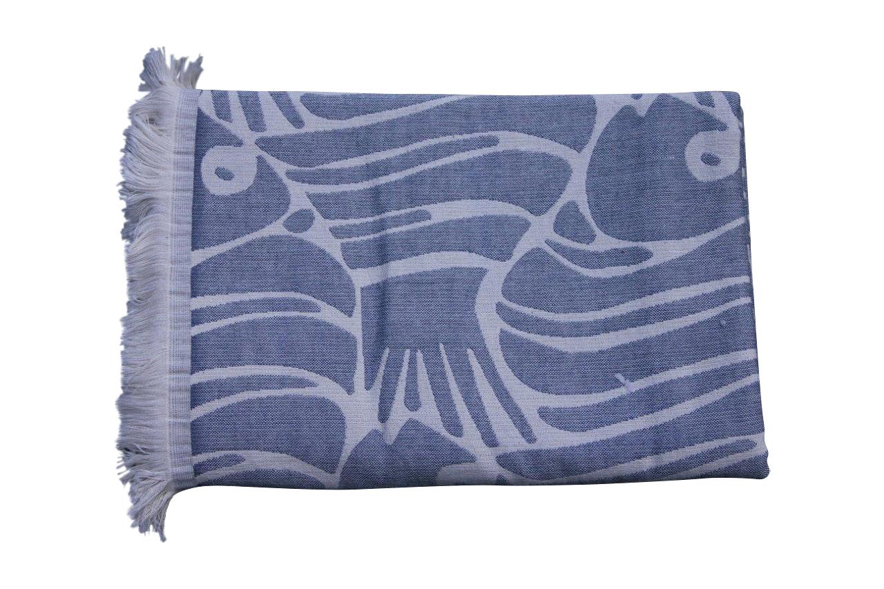 Afbeelding van hamamdoek donkerblauw 185cm x 95cm