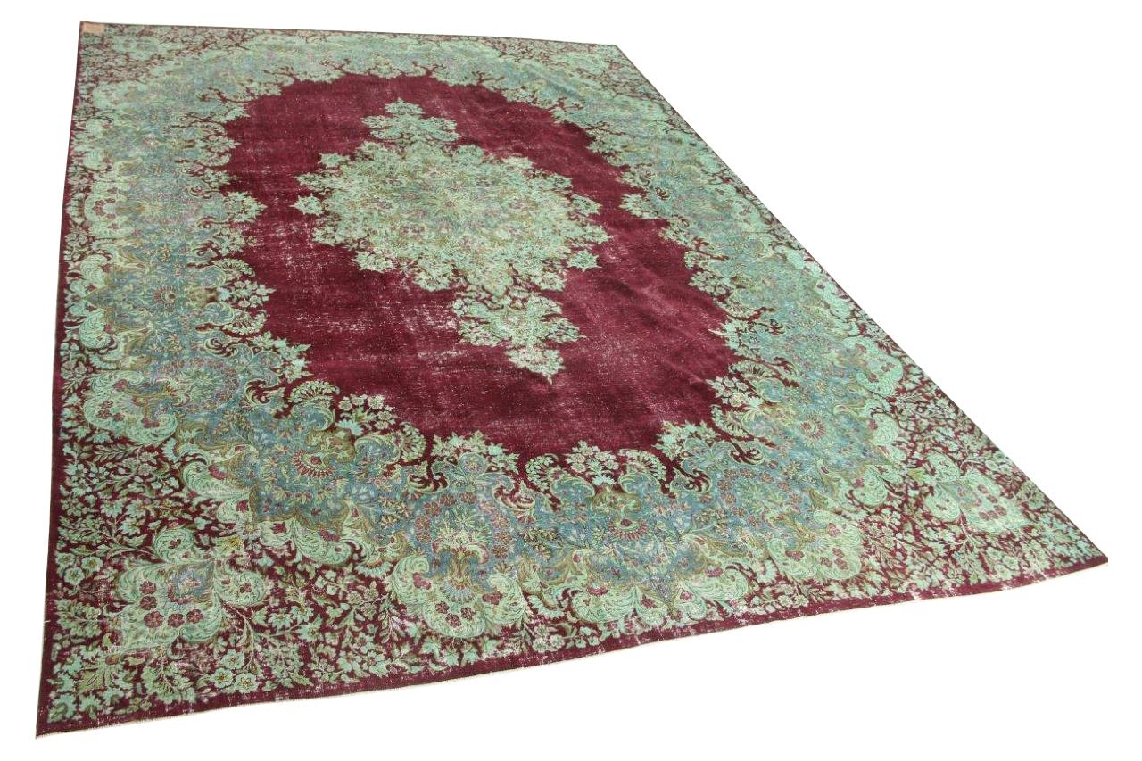 Afbeelding van Antiek Kirman vloerkleed 420cm x 302cm 70 jaar oud