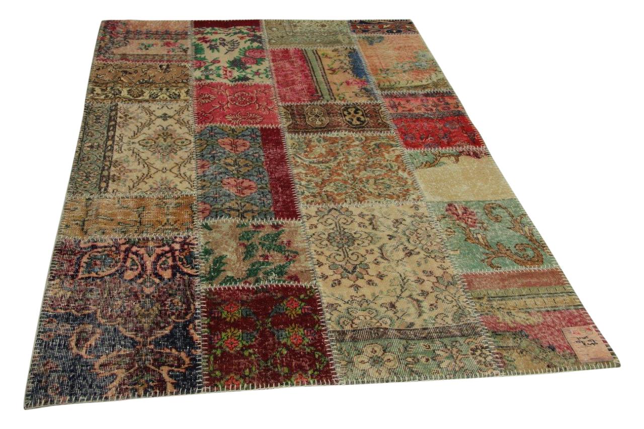patchwork vloerkleed 237cm x 157cm