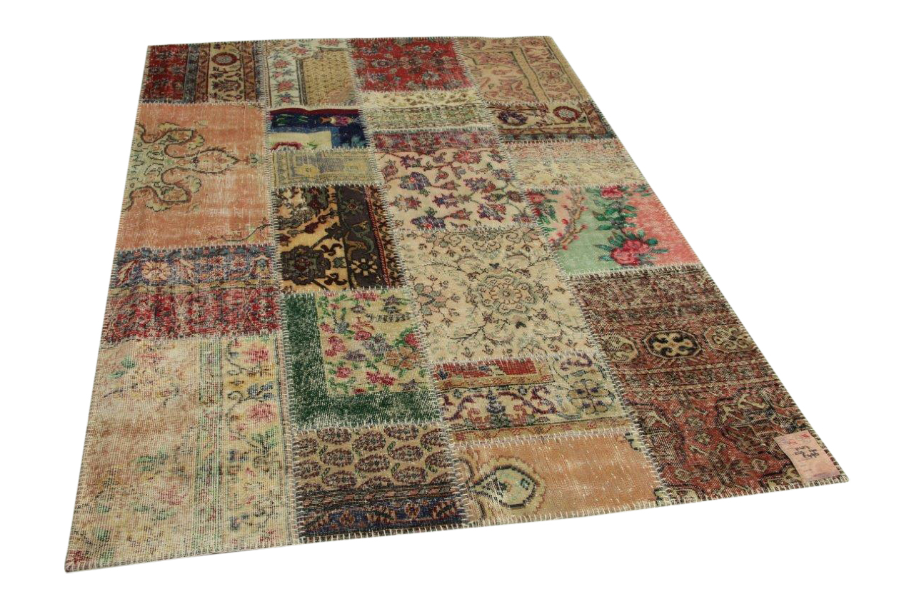 patchwork vloerkleed 243cm x 170cm
