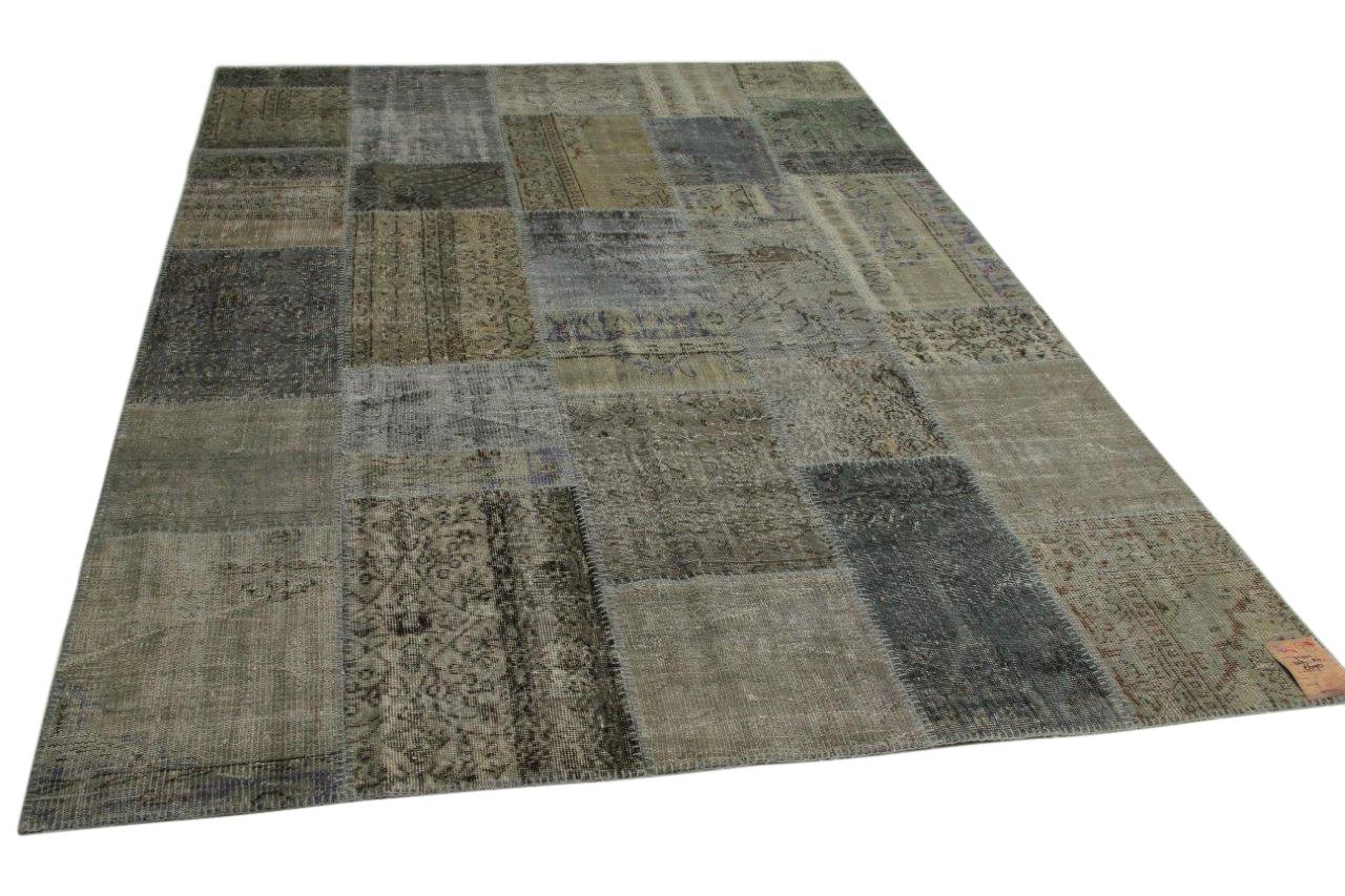 grijs patchwork vloerkleed 303cm x 211cm