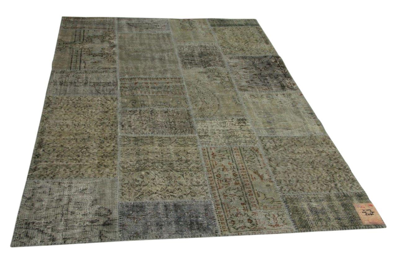 grijs patchwork vloerkleed 245cm x 170cm