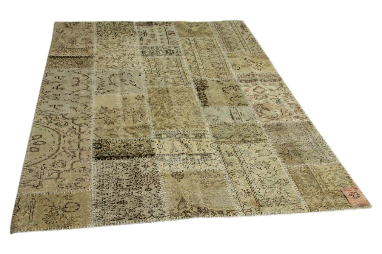 beige patchwork voerkleed 243cm x 173cm