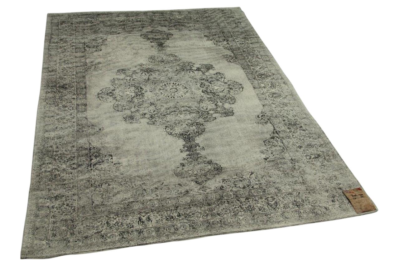 Afbeelding van vintage look vloerkleed grijs 230cm x 160cm