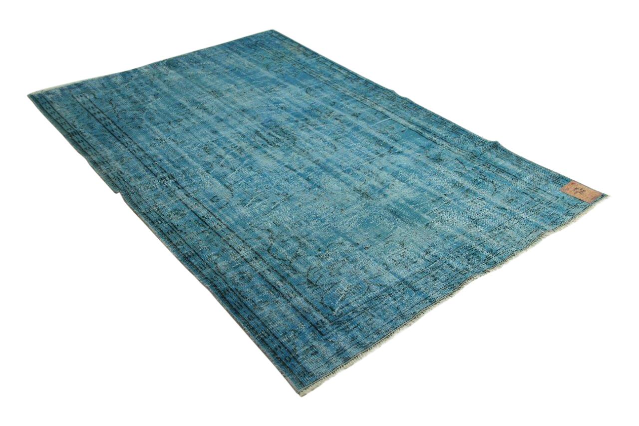 blauw vloerkleed 249cm x 151cm