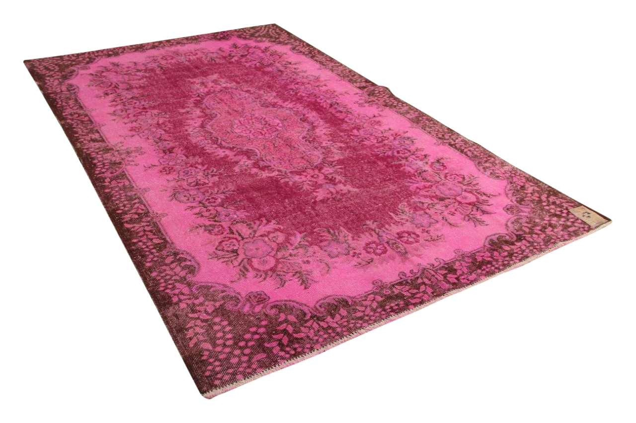 roze vloerkleed 305cm x 188cm