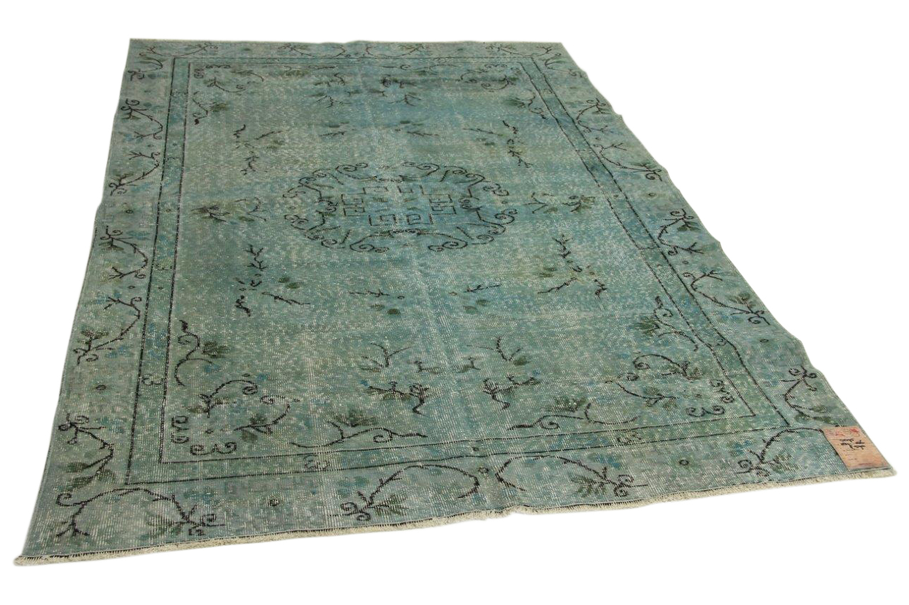 blauw vloerkleed 287cm x 186cm