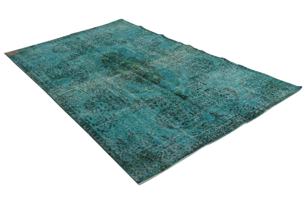blauw vloerkleed vintage 285cm x 175cm